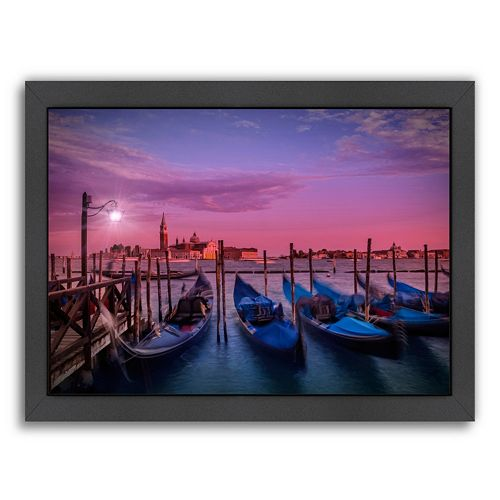 Americanflat Venice Gondolas At Sunset Framed Wall Art