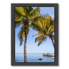 Americanflat Florida Keys Lovely Oceanside Framed Wall Art