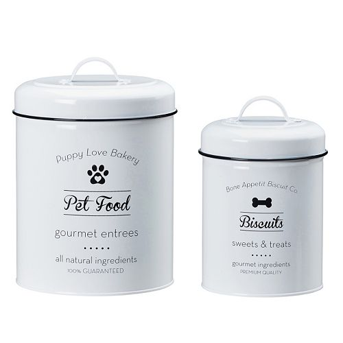 Global Amici Puppy Love 2-pc. Metal Canister Set