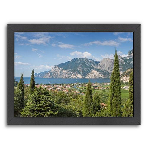 Americanflat Lake Garda Panoramic View Framed Wall Art