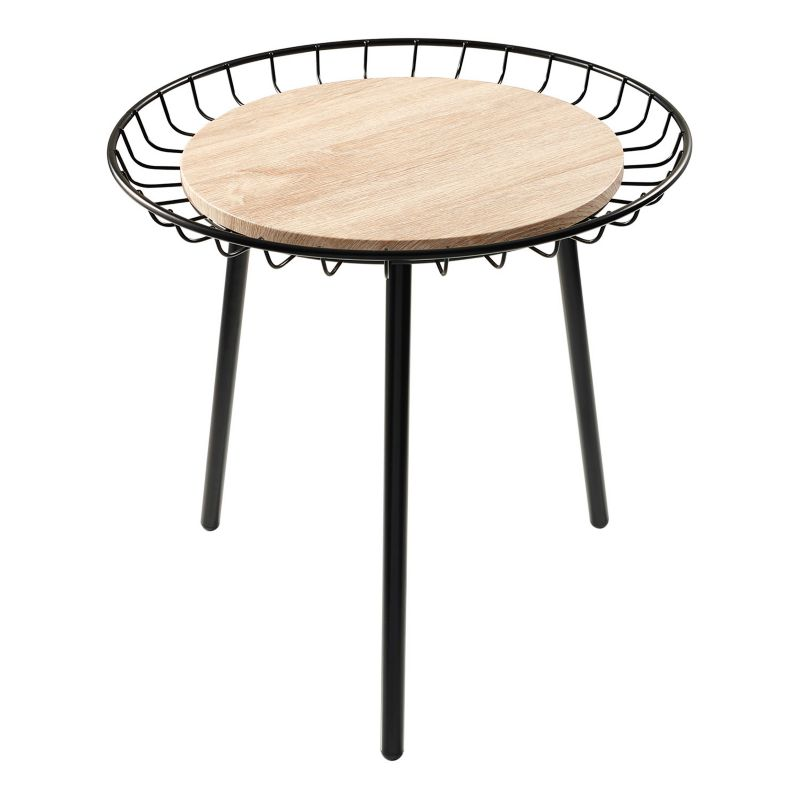 Adesso Loft End Table, Black
