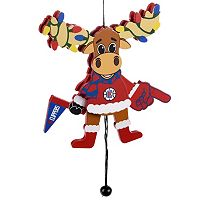 Forever Collectibles Los Angeles Clippers Fan Moose Christmas Ornament