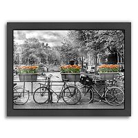 Americanflat Typical Amsterdam Panoramic View Framed Wall Art