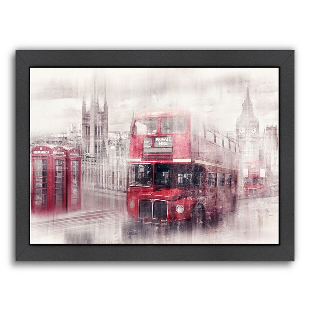 Americanflat City Art London Westminster Collage Framed Wall Art