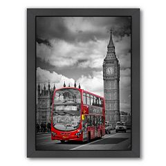 Americanflat London Westminster Bridge Traffic Framed Wall Art