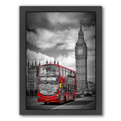 Americanflat London Westminster Bridge Traffic Framed Wall Art