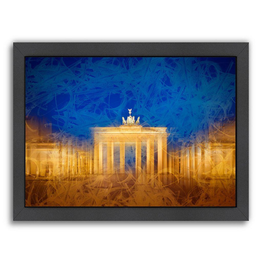 Americanflat Modern Art Berlin Brandenburg Gate Framed Wall Art