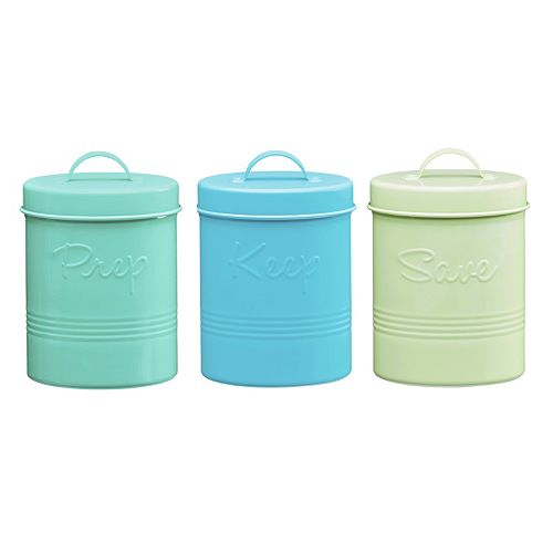 Global Amici Retro Fifties 3-pc. Metal Canister Set