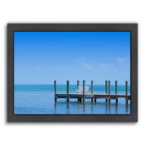 Americanflat Florida Keys Quiet Place Framed Wall Art
