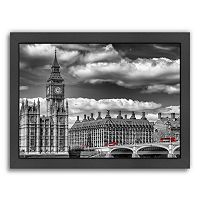 Americanflat London Big Ben & Red Bus Framed Wall Art