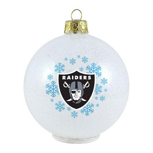 Oakland Raiders Christmas Ornaments.Oakland Raiders Led Ball Christmas Ornament