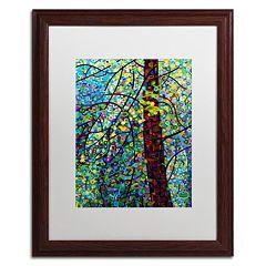 Trademark Fine Art Mandy Budan 'Pine Sprites' Matted Framed Wall Art