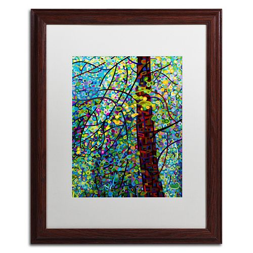 "Trademark Fine Art Mandy Budan ""Pine Sprites"" Matted Framed Wall Art"