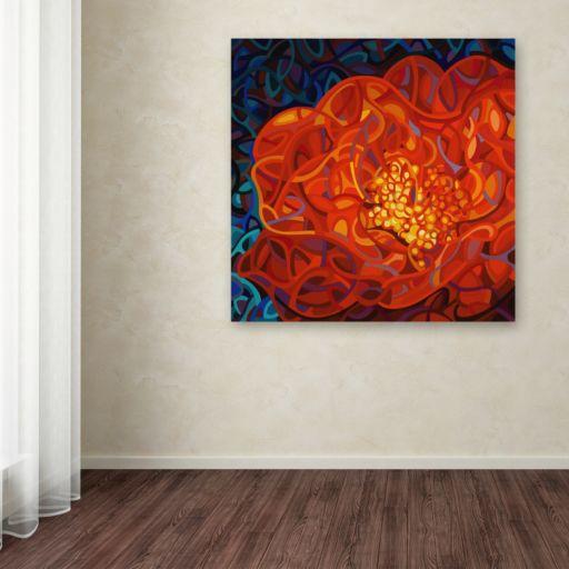 "Trademark Fine Art Mandy Budan ""Ribbons And Pearls"" Canvas Wall Art"