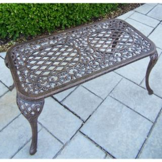 Mississippi Cast Aluminum Outdoor Coffee Table