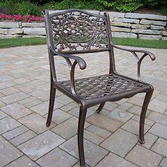 Mississippi Cast Aluminum Outdoor Arm Chair