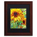 """Trademark Fine Art Mandy Budan """"Summer In The Garden"""" Matted Framed Wall Art"""