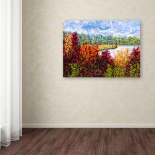 """Trademark Fine Art Mandy Budan """"Summers End"""" Canvas Wall Art"""