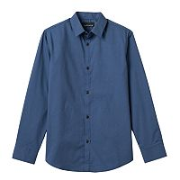 Boys 8-20 Van Heusen Geometric Squares Button-Down Shirt