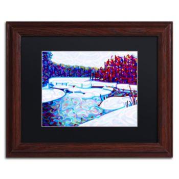 """Trademark Fine Art Mandy Budan """"Thaw"""" Matted Framed Wall Art"""