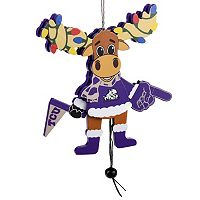 Forever Collectibles TCU Horned Frogs Wooden Moose Christmas Ornament