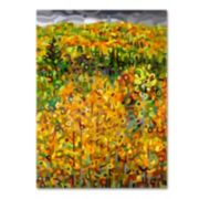 "Trademark Fine Art Mandy Budan ""Towards Autumn"" Canvas Wall Art"