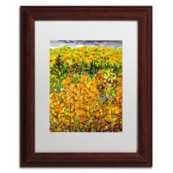 """Trademark Fine Art Mandy Budan """"Towards Autumn"""" Matted Framed Wall Art"""