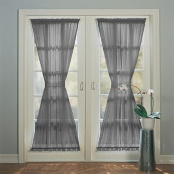 No918 Solid Voile Door Curtain