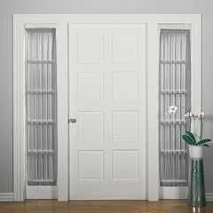No918 Solid Voile Side Light Door Curtain