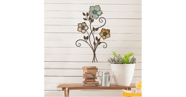Kohls Home Decor: Stratton Home Decor Color Flower Bunch Metal Wall Decor