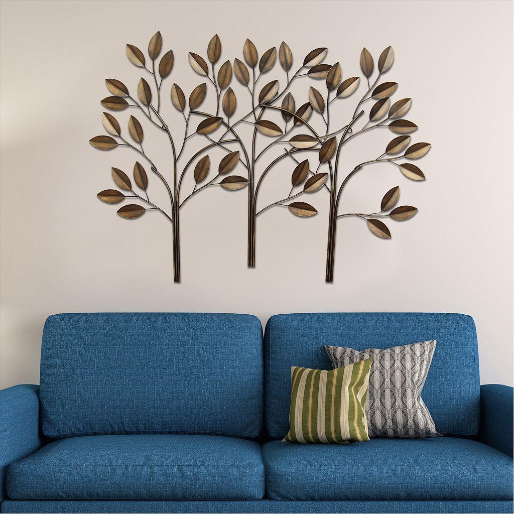 Stratton Home Decor Tree Panel Metal Wall Decor
