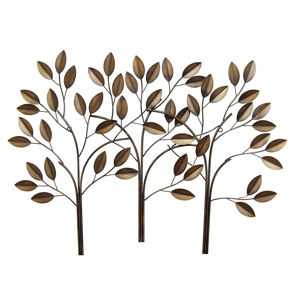Stratton Home Decor Tree Panel Metal Wall Decor