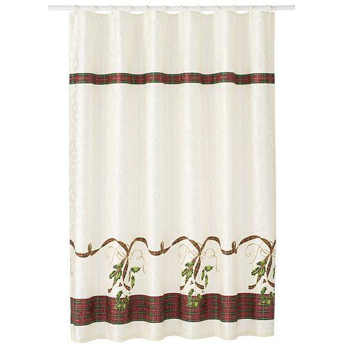 Lenox Holiday Nouveau Ribbon Shower Curtain