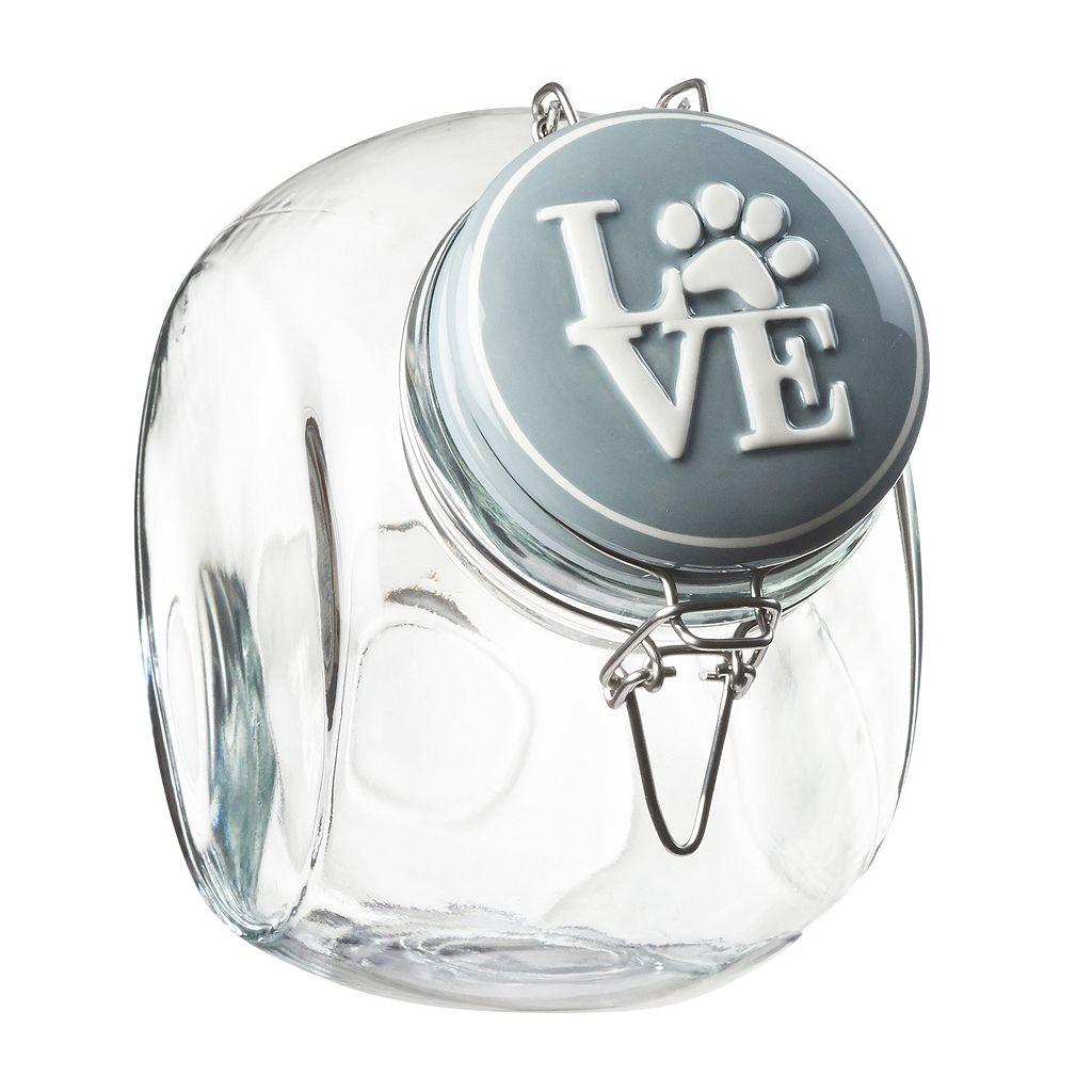 Global Amici Pet Love Hermetic Glass Storage Jar