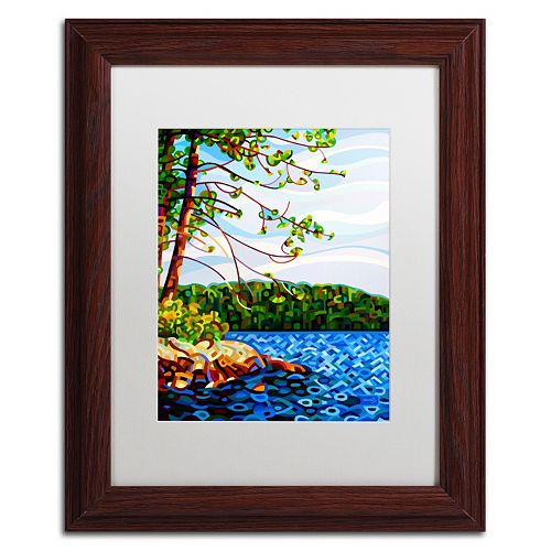 "Trademark Fine Art ""View From Mazengah"" Wood Finish Matted Framed Wall Art"