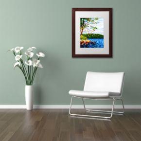 "Trademark Fine Art ""View From Mazengah"" Wood Finish Matted Framed Wall Art"