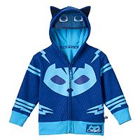 Toddler Boy PJ Masks Catboy Fleece-Lined Zip-Up Mask Hoodie