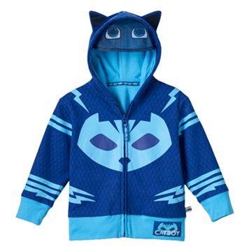 Toddler Boy PJ Masks Catboy Fleece-Lined Zip-Up Mask Hoodie