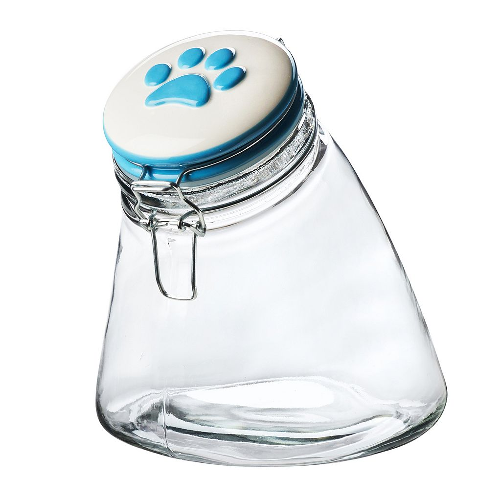 Global Amici Pet Paw Rainbow Slope Hermetic Glass Storage Jar