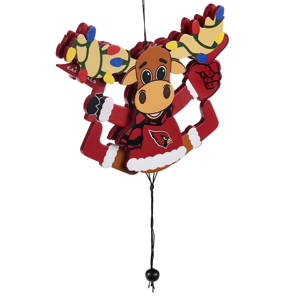Forever Collectibles Arizona Cardinals Fan Moose Christmas Ornament