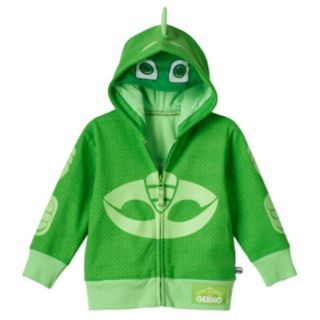 Toddler Boy PJ Masks Gekko Fleece-Lined Zip-Up Mask Hoodie