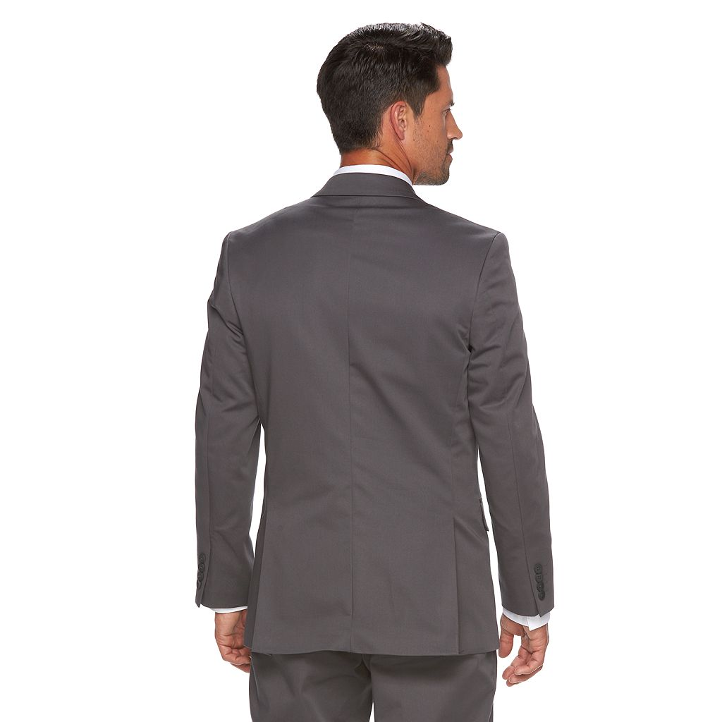 Men's Apt. 9 Slim-Fit Stretch Gray Suit Jacket