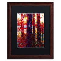 Trademark Fine Art Carnelian Morning Wood Finish Matted Framed Wall Art