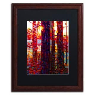 Trademark Fine Art Carnelian Morning Wood Finish Matted Framed Wall Art