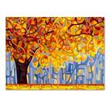 "Trademark Fine Art ""October Gold"" Canvas Wall Art"