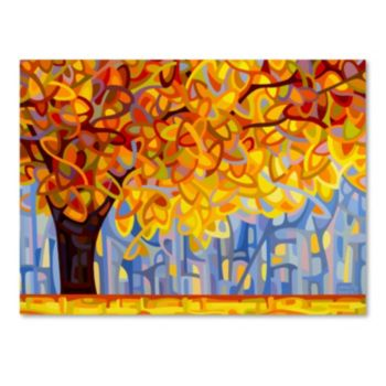 "Trademark Fine Art ""October Gold"" Canvas Wall Art"