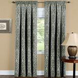 Sutton Blackout 1-Panel Damask Window Curtain