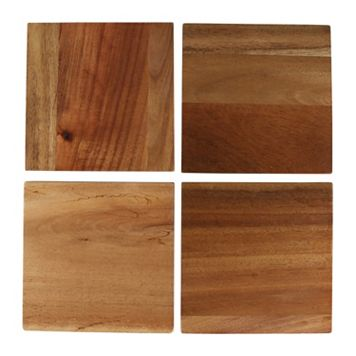 Food Network 4-pc. Acacia Wood Coasters Set