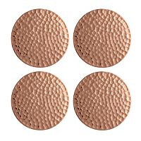 Food Network 4 pc Hammered Copper Coaster Set
