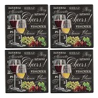 Food Network 4-pc. Wine Coaster Set